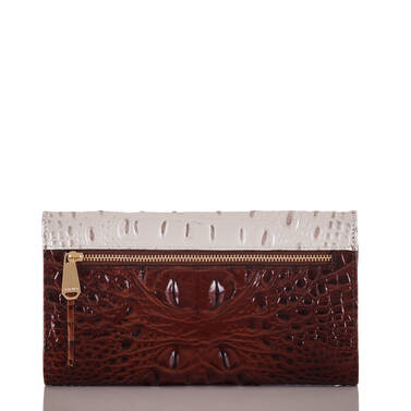 Soft Checkbook Wallet Toasted Macaroon Durance Back