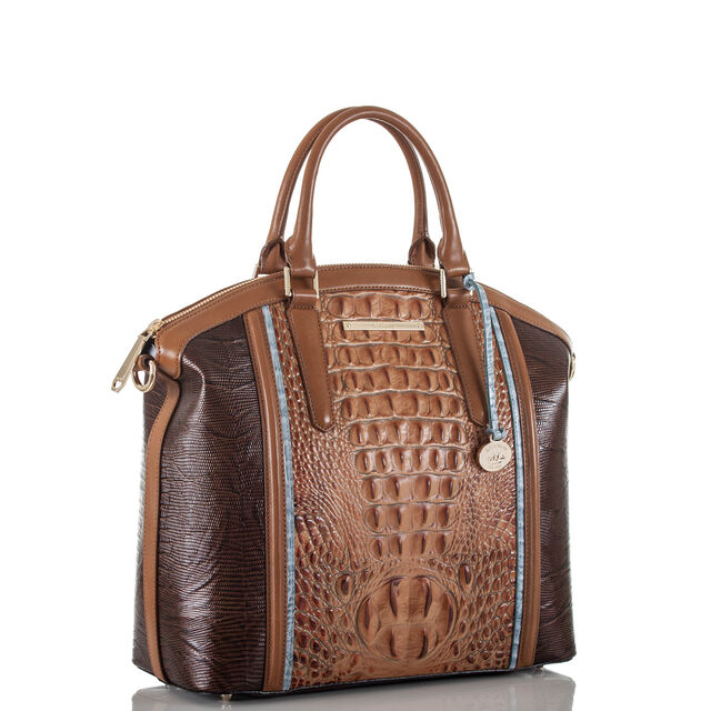 Large Duxbury Satchel Toasted Almond Garrone, Toasted Almond, hi-res