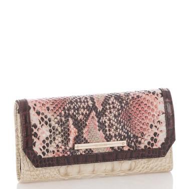 Soft Checkbook Wallet Pink Collins Side