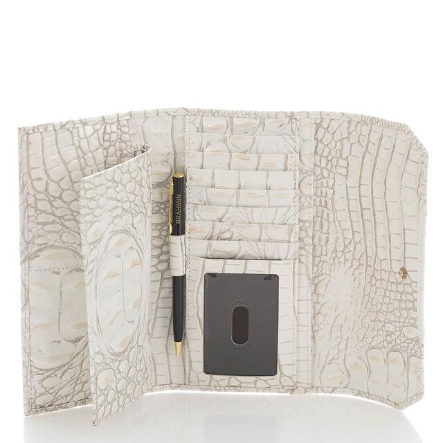 Soft Checkbook Wallet Pearl Melbourne, Pearl, hi-res