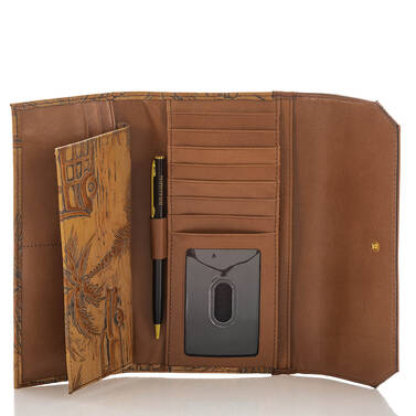 Soft Checkbook Wallet Tan Copa Cabana Interior