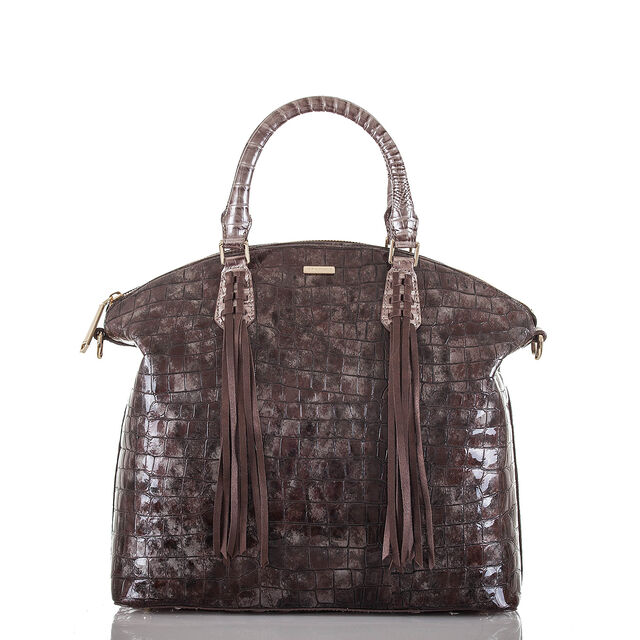 Large Duxbury Satchel Brown Charente, Brown, hi-res
