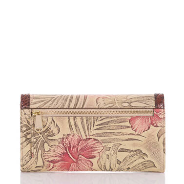 Soft Checkbook Wallet Pecan Amina Back