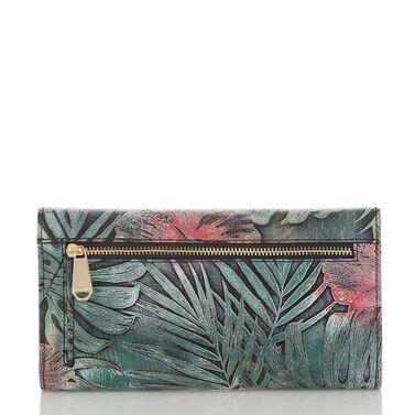 Soft Checkbook Wallet Green Solandra Front