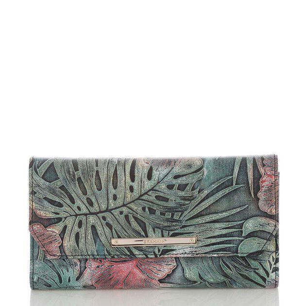 Soft Checkbook Wallet Green Solandra, Green, hi-res