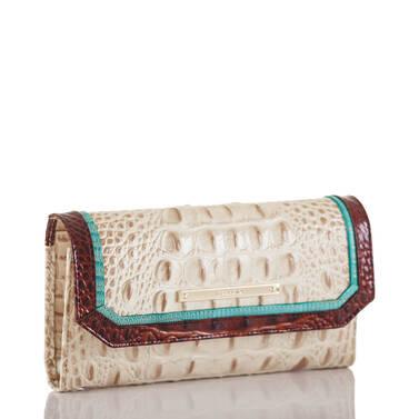 Soft Checkbook Wallet Vanilla Macaw Side