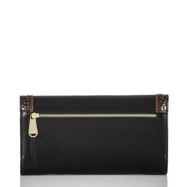 Soft Checkbook Wallet Black Tuscan Tri-Texture Back