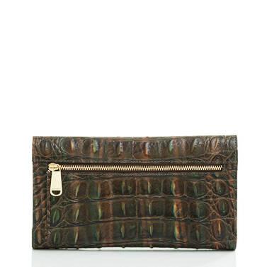 Modern Checkbook Wallet Moss Rowan Back