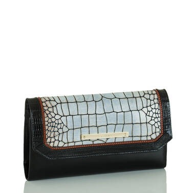 Soft Checkbook Wallet Beige Estero Side