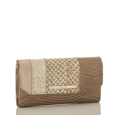 Soft Checkbook Wallet Latte Buena Vista Side