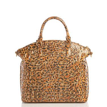 Large Duxbury Satchel Leopard Cub Melbourne Back