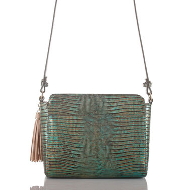 Carrie Crossbody Emerald Moa Front
