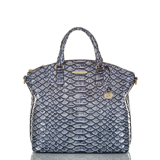 Large Duxbury Satchel Denim Cruz, Denim, hi-res