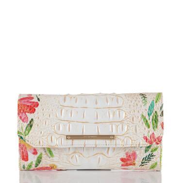 Soft Checkbook Wallet Multi Herring Front
