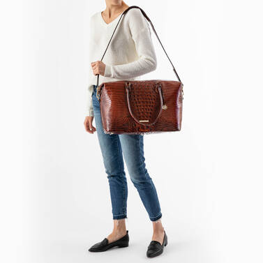 Duxbury Carryall Crystal Melbourne on figure for scale