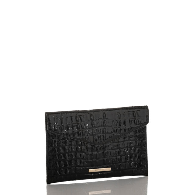 Envelope Clutch Black La Scala, Black, hi-res