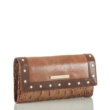 Soft Checkbook Wallet Brown Silva Side