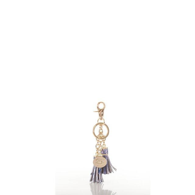 Tassel Key Ring Washed Indigo Melbourne, Washed Indigo, hi-res