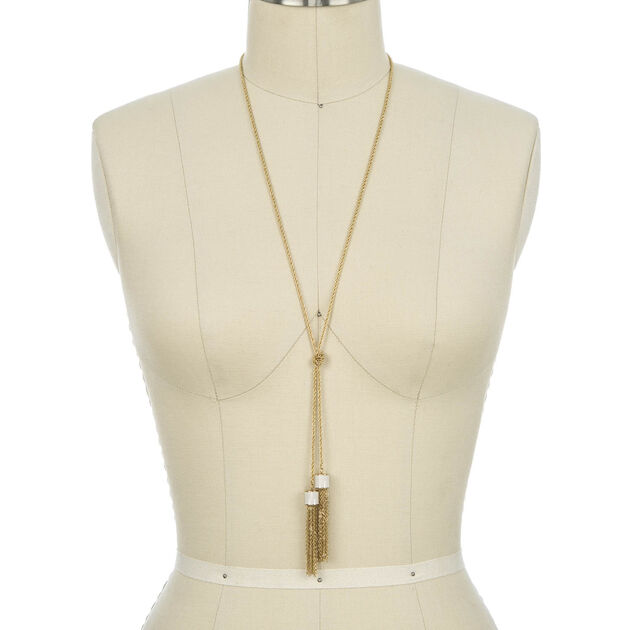 Fairhaven Duo Tassel Necklace Ivory Jewelry