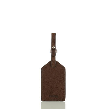 Mens Luggage Tag Cocoa Brown Manchester Front