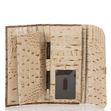 Soft Checkbook Wallet Champagne Koubba Interior