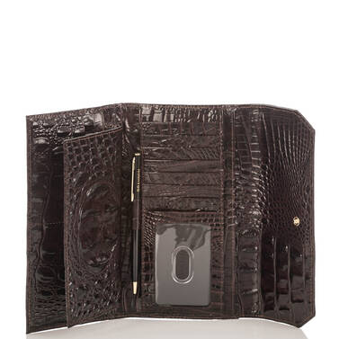 Soft Checkbook Wallet Siltstone Bologna Interior