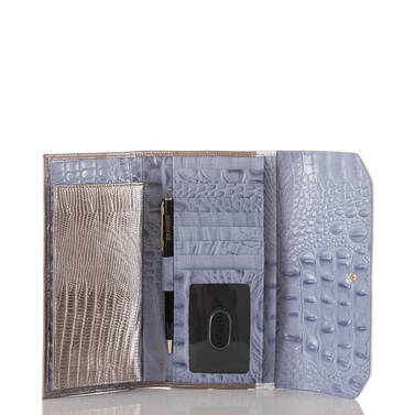Soft Checkbook Wallet Periwinkle Fontainebleau Interior