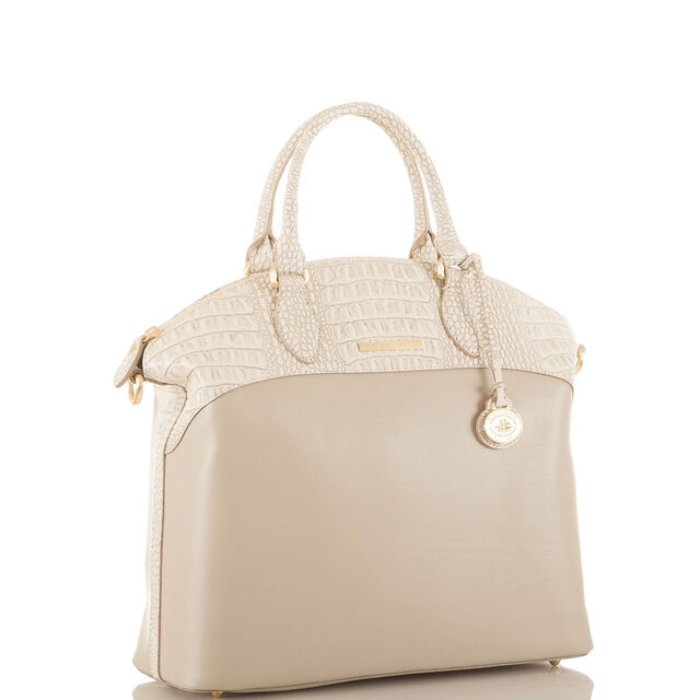 Large Duxbury Satchel Taupe Quincy, Taupe, hi-res