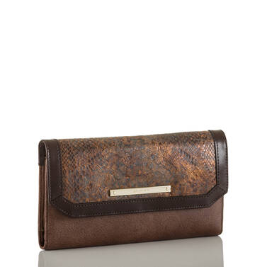 Soft Checkbook Wallet Brown Barrow Side