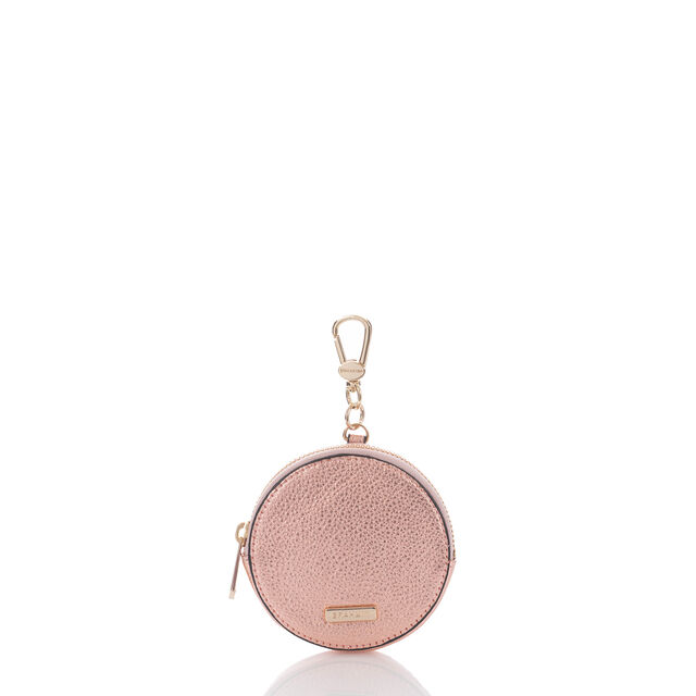 Circle Coin Purse Rose Gold Moonlit, Rose Gold, hi-res