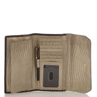 Soft Checkbook Wallet Creme Rhodes Interior