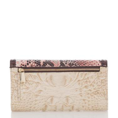 Soft Checkbook Wallet Pink Collins Back