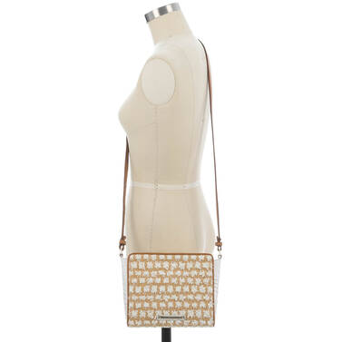 Carrie Crossbody White Bora on figure for scale