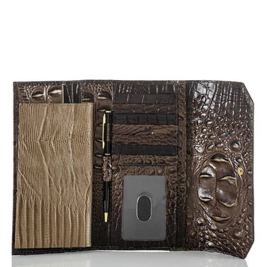 Soft Checkbook Wallet Brunello Vestige Interior