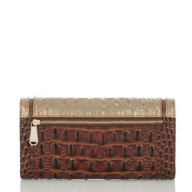 Soft Checkbook Wallet Rose Gold Provence Back