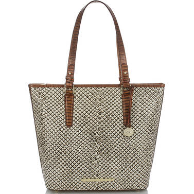 Asher Tote Onyx Java Front