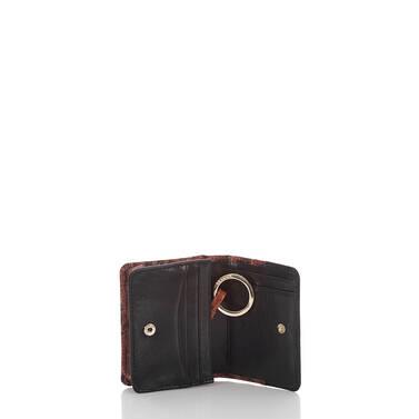 Mini Key Wallet Pecan Fitzgerald Interior