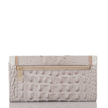 Soft Checkbook Wallet Pumice Tri-Color Back