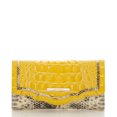 Soft Checkbook Wallet Sunflower Astaire Front
