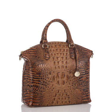 Large Duxbury Satchel Toasted Almond Melbourne Side
