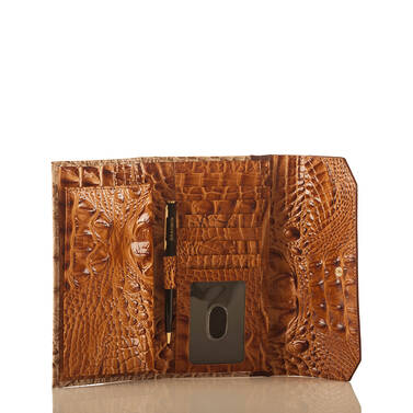 Soft Checkbook Wallet Dark Rum Caleb Interior