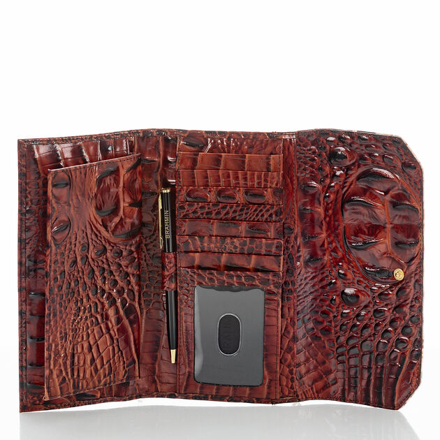 Soft Checkbook Wallet Pecan Eastwood