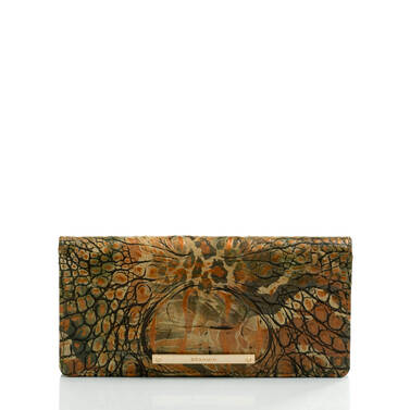 Ady Wallet Camouflage Melbourne Front Brahmin Exclusive
