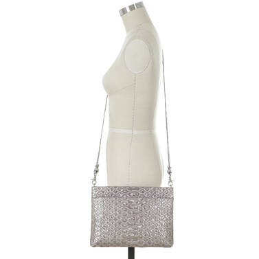 Remy Crossbody Silver Pamilla on figure for scale