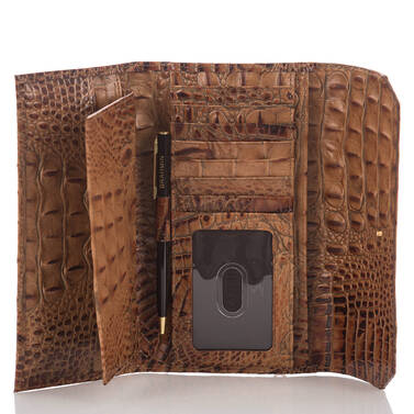 Soft Checkbook Wallet Toasted Almond Melbourne Interior