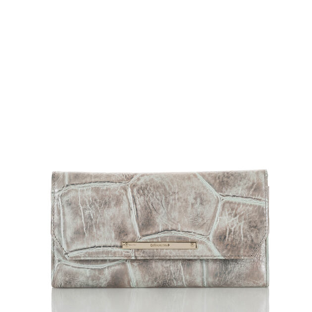 Soft Checkbook Wallet Pewter Majorelle, Pewter, hi-res