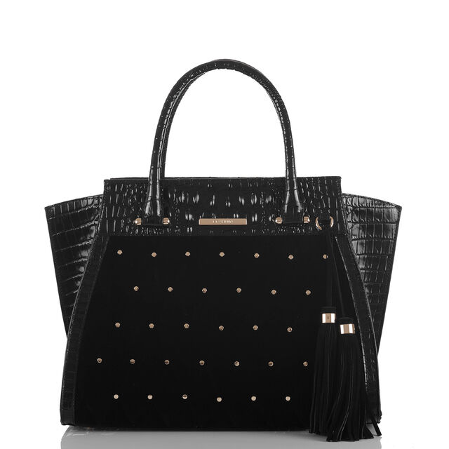 Priscilla Satchel Black Faroe, Black, hi-res