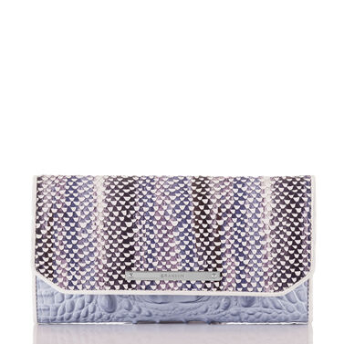 Soft Checkbook Wallet Periwinkle Monroe Front