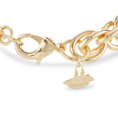 Double Round Chain Bracelet Light Gold Providence Side