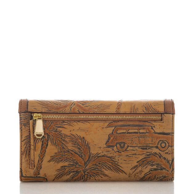 Soft Checkbook Wallet Tan Copa Cabana